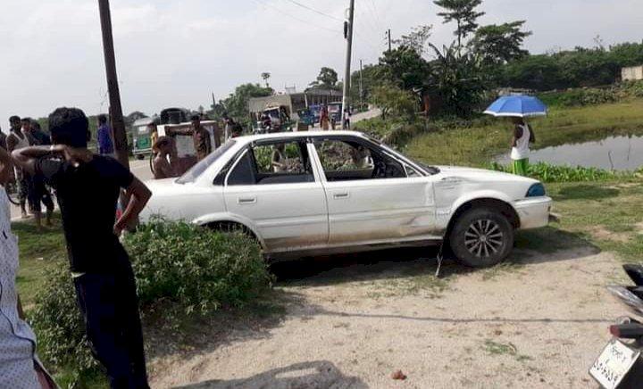জগন্নাথপুরে সড়ক দুর্ঘটনায় ৩ জন আহত