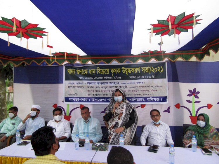 ধান বিক্রয়ে অনিয়ম করলেই ব্যবস্থা: হবিগঞ্জের ডিসি